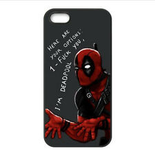 Custom Superhero Deadpool YOUR OPTIONS For iPhone 4 4S 5 5S 5C Case Cover