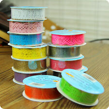 Lace Roll DIY Washi Paper Decorative Sticky Paper Masking Tape Adhesive forsale