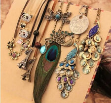 Multi Pattern New Lady Girl Women Vintage Pendant Necklace Long Chain Gift