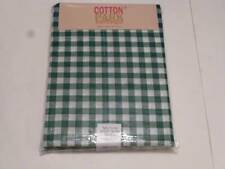 St. Patrick's Day Tablecloth Gingham Green/White/Shimmer Plaid 4 Sizes UPic NEW