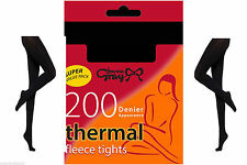 Joanna Gray 200 Denier Thermal Fleece Tights Ladies Womens Soft Thick Warm