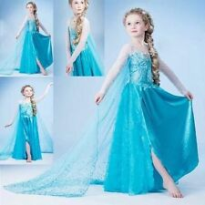 NEW FROZEN DRESS ELSA ANNA PRINCESS DRESS KIDS COSTUME PARTY FANCY SNOW QUEEN