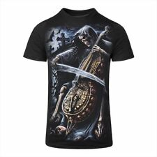 Spiral Direct Gothic Reaper Skull Tee Reaper Top Symphony Of Death Black Tshirt
