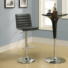 Monarch Specialties Metal Hydraulic Barstool with Back - Set of 2