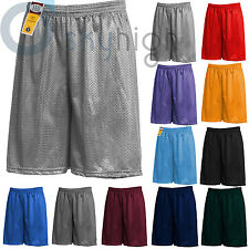 Men's Mesh Shorts Pockets workout Jersey pants S-5XL Soft Basketball Gym Fitness