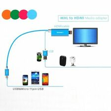 MHL Micro USB to HDMI TV AV Cable Adapter HDTV for Samsung GalaxyS5 S4 S3 Note 2