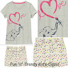 NWT Gymboree BRIGHT IDEAS Girls Size 5 or 6 Skirt Elephant Shirt Top 2-PC OUTFIT