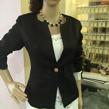 New Womens candy Color Blazer Jacket Suit Work Casual Basic Long Sleeve black