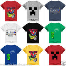 NEW KIDS/BOYS/GIRLS MINECRAFT STEVE/CREEPER/ENDERMAN T-SHIRT/TOP/TEE SIZE/AGE
