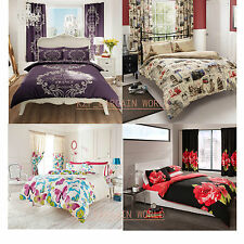 Luxury Modern Duvet Cover with Pillow Case Bedding Set Single Double King