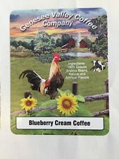Blueberry Cream Flavored Coffee, 1 Lb Bag - Genesee Valley Coffee