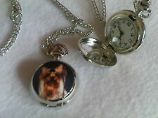 Yorkshire Terrier or Chihuahua Pocket Watch Necklace Small Dogs