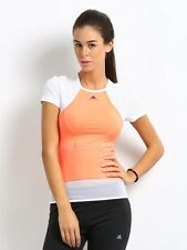 WOMENS STELLA MCCARTNEY ADIDAS G73164 TENNIS RUNNING WORKOUT CAPSLEEVE TOP SHIRT