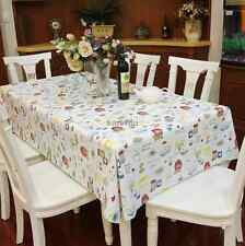 waterproof PVC tablecloth colorful cake pattern multi-size dinning table cover 1