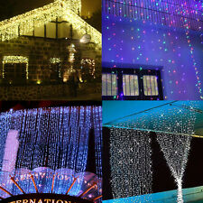 3M x 3M / 6M x 3M Led Curtain Fairy Lights Lighting Christmas Party Garden