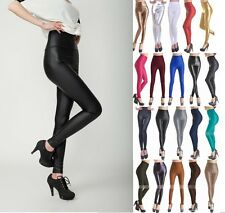 Sexy Women's Skinny Faux Leather Leggings Pants Tight High Waist Trousers New