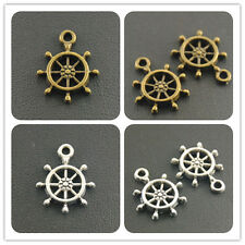 2015New Factory 50pcs Mini Ship Wheel Charm Pendant 18x16mm free shipping