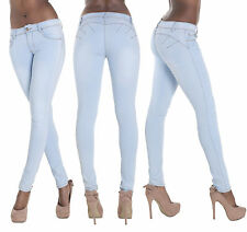 New Sexy Light  Blue Jeans Pants Slim Fit Stretchy Trousers  Sizes 6 8 10 12 14