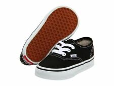 Vans Authentic Black White Canvas Infant Toddler Baby Boy Girl Shoes Size 4-10