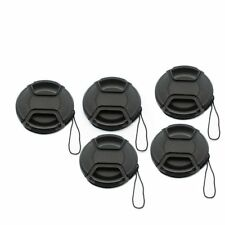 5 pcs 52 55 58 62 67 72 77 82mm Plastic Snap-on Camera Front Lens Cap For DSLR