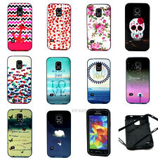 Shockproof HYBRID Combo 2 in 1 Pattern Case TPU Cover for Samsung Galaxy Phone