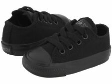 Converse Chuck Taylor Ox Top Black Mono Infant Toddler Boy Girl Shoes Size 2-10