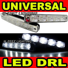 High Power Ultra Bright White LED Daytime Running Light DRL Lights Fog Lamp Kit
