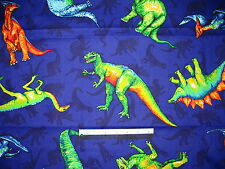 Dinosaur cotton quilting fabric *Choose design & size