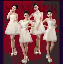 New Cheap Champagne Short Paragraph Mini Party Dress Bridesmaid Dress
