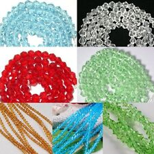 1 Strand 4mm Bicone Faceted Glass Crystal Spacer Bead Jewelry Making Pick Color