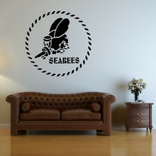 Sea Bees Navy Wall Decal - Vinyl Decal - Car Decal