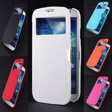 Magnetic Flip View Window Leather Case Cover For Samsung Galaxy S4 Mini I9500 S5