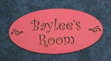 Oval Custom Name Sign 8x4  Personlize! Door or wall sign *Free engraving*