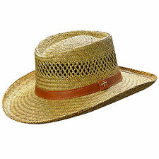 Dorfman Pacific Men's Gambler Rush Straw Kangaroo Country Western Cowboy Hat NEW