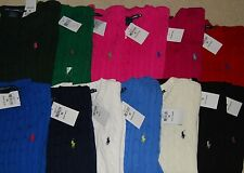 NWT RALPH LAUREN POLO SPORT Women's Cable Knit Crew Neck Sweater Jumper S M L XL