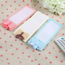 Bowknot Lace Remote Control Dustproof Case Cover Bags TV Control Protector WW
