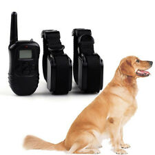 Rechargeable LCD 100LV Electric Shock E-Collar Remote 1/2 Dog Training Anti-Bark