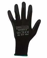 Premium Black Nitrile Glove 8R002 | Work Gloves, Mechanic, Safety, Grip, Wet