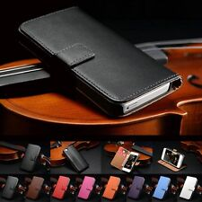 New HOT Luxury GENUINE Leather Flip Card Wallet Case Cover for Apple iPhone 5 5S