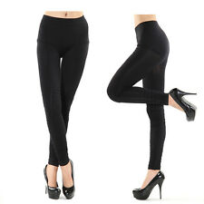 Black Hi Quality Spandex Stretch Fitted Legging Pencil Pants NUE Skinny