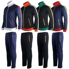 Mens Womens Running jogging Track Suit warm up pants jackets gym training wear Z
