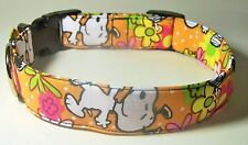 Wet Nose Designs Spring Time Snoopy Dog Collar Flowers Floral