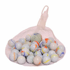 Kids Traditional White Glass Marbles Various Packs Vintage Toys Glass Marbles