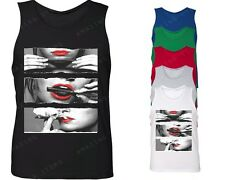 Blunt Roll Red Sexy Lips Men's Tank Top Weed Smoker tops Legalize Marijuana 420