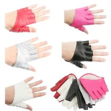 Nice Half Finger PU Leather Gloves Ladies Fingerless Driving Show Pole Dance