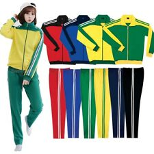Mens Womens Running jogging Track Suit warm up pants jackets gym training wear F