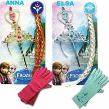 Frozen Snow Queen Elsa & Anna Princess Crown&Hair Piece&Wand /Gloves