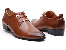NEW Men's Casual Pointed Leather Lace Up Wedding Formal Dress Shoes Oxfords M37