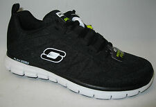 Skechers mens memory foam trainers. Power switch 51188/BKW  Black and White