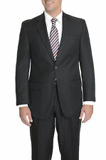 IZOD Classic Fit Solid Black Two Button Suit With Pleated Pants